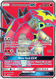 Turtonator GX Guardians Rising Pokemon Card