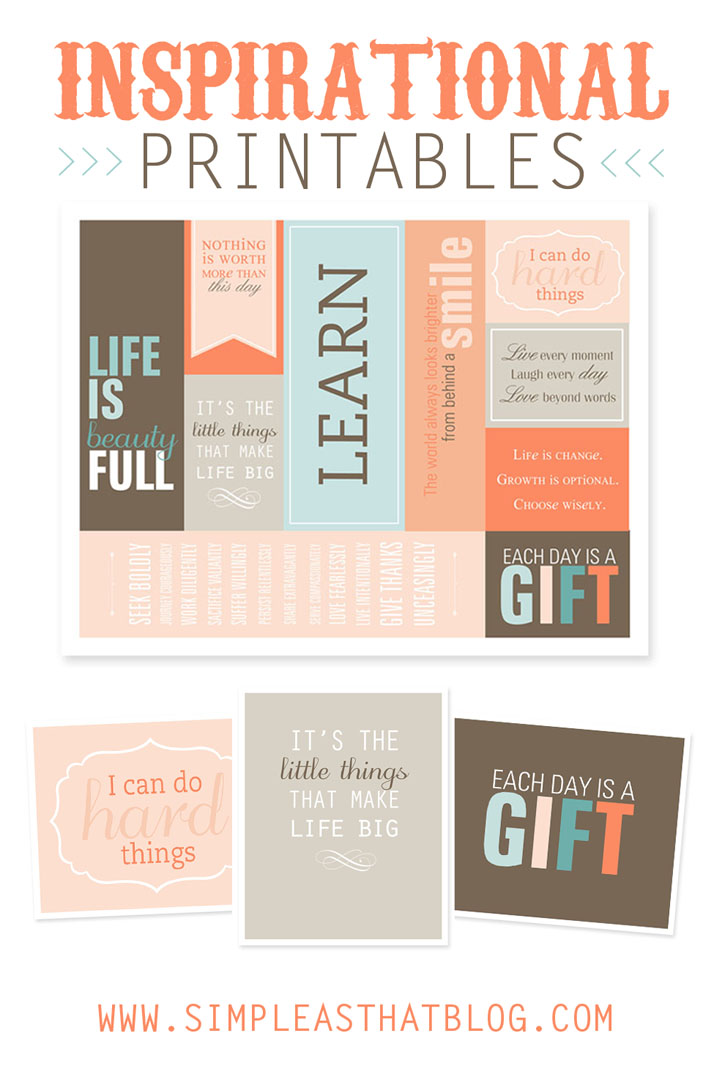 Inspirational Bookmarks + Coordinating Art Prints