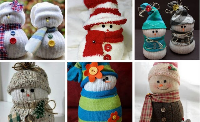 DIY Κουκλάκια χιονάνθρωποι