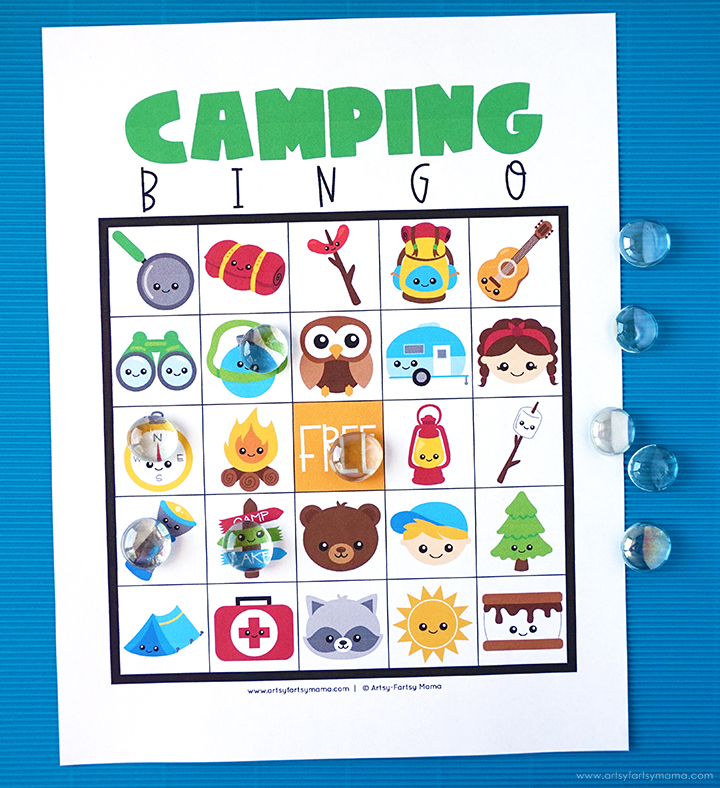 picture relating to Animal Bingo Printable called Absolutely free Printable Tenting Bingo artsy-fartsy mama