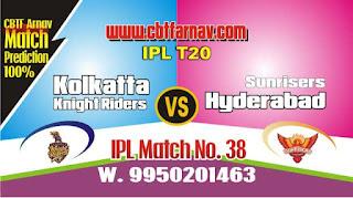 Kolkatta vs Hyderabad IPL 2019 38th Match Prediction Today Who Will Win