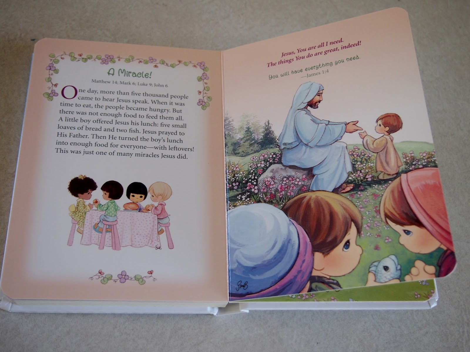 heck of a bunch precious moments little book of bible stories