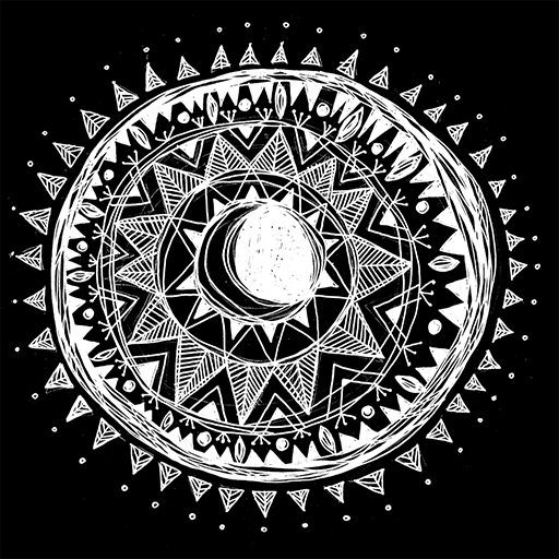 Black Moon Mandala - Erin Clark - Inked in Red