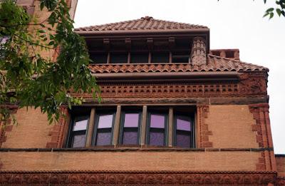 Upper, side portion of mansion