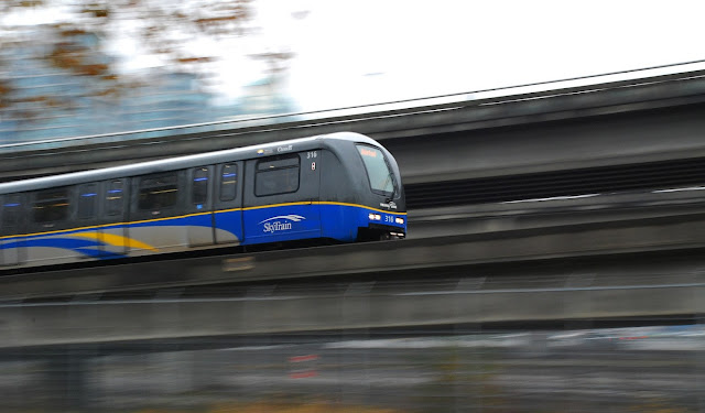 Vancouver SkyTrain Panning Shot