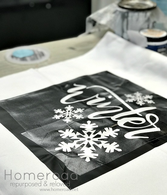Using a Silhouette machine to create a winter stencil