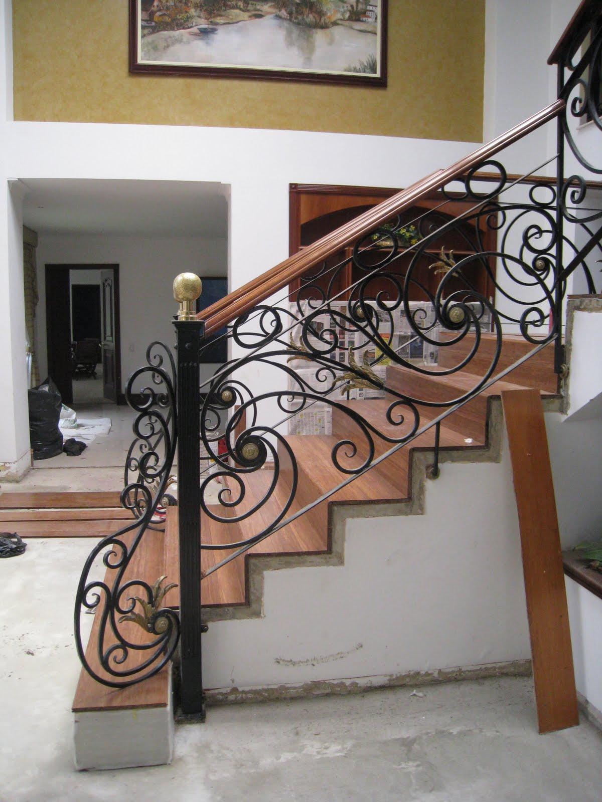 Arte y dise o en forja barandas en hierro forjado y acero - Escaleras de hierro forjado ...