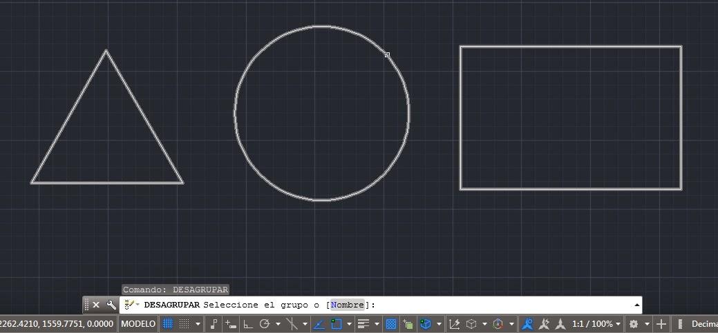 Geometría de los objetos básicos y compuestos en AutoCAD