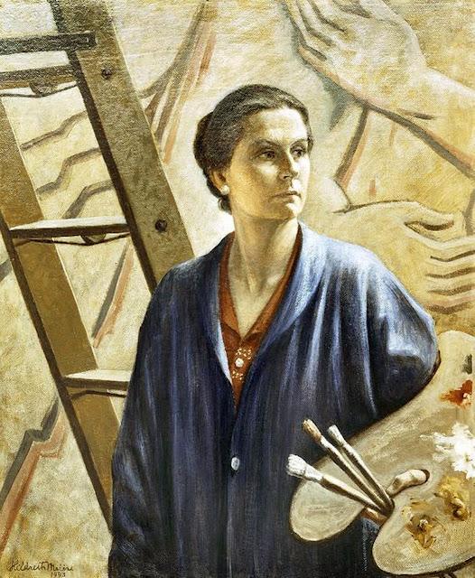 Hildreth Meière, Self Portrait, Portraits of Painters, Fine arts, Portraits of painters blog, Paintings of Hildreth Meière, Painter Hildreth Meière