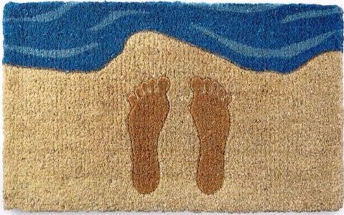 Footprints in Sand Beach Doormat