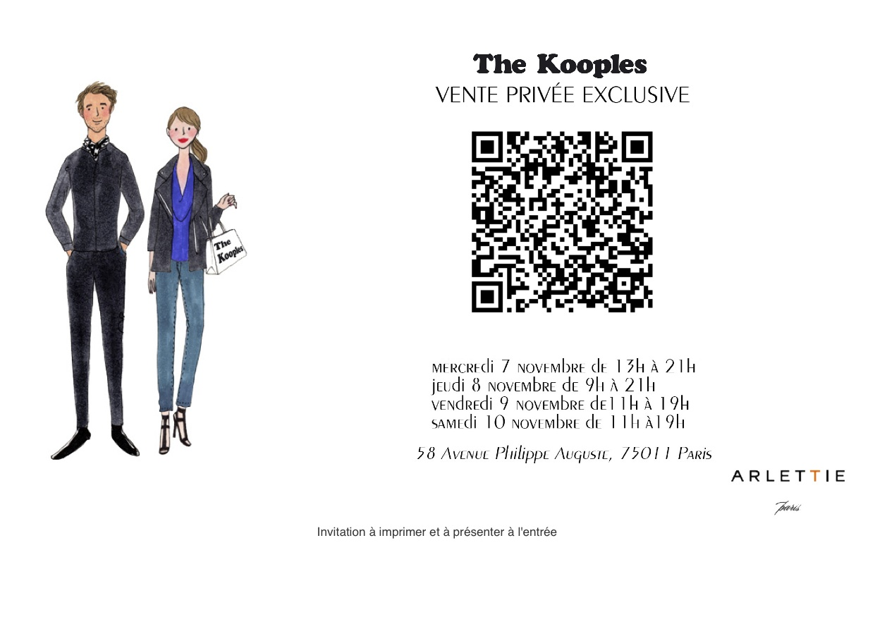 vente privée the kooples via Arlettie