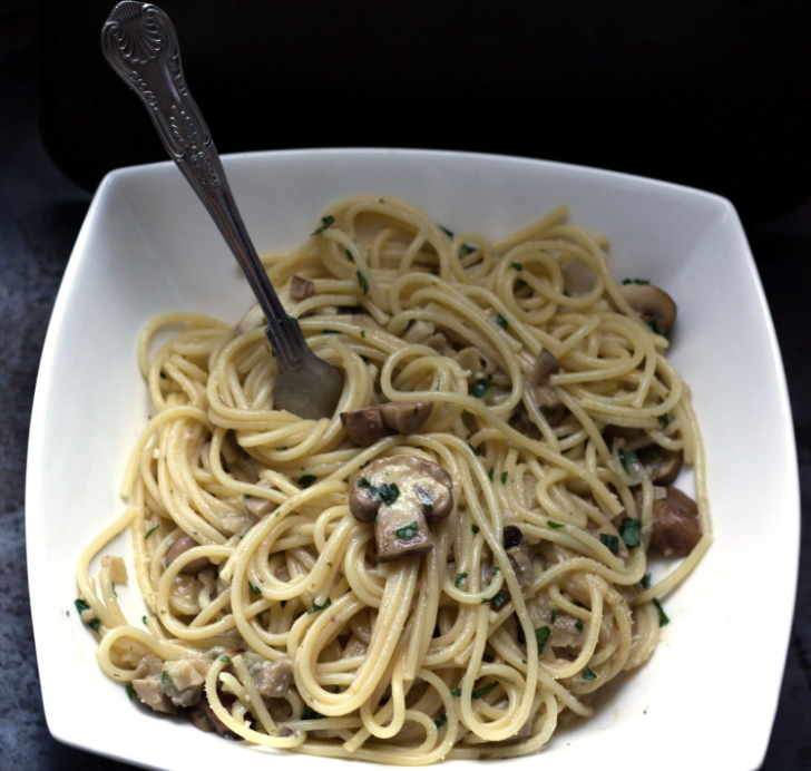 Creamy Spaghetti with Mushroom Recipe