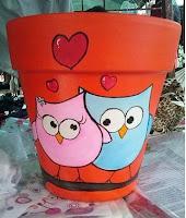 Macetas pintadas - amor