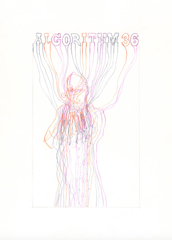 drawing Suzanne Treister  Algorithm 2.0/36/Techno Shaman, 2015