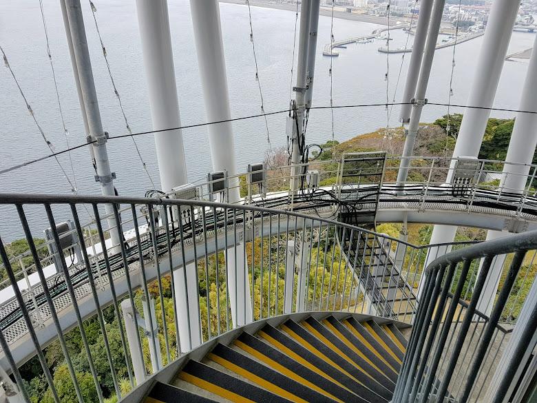 展望燈塔的樓梯,走下去會怕怕的