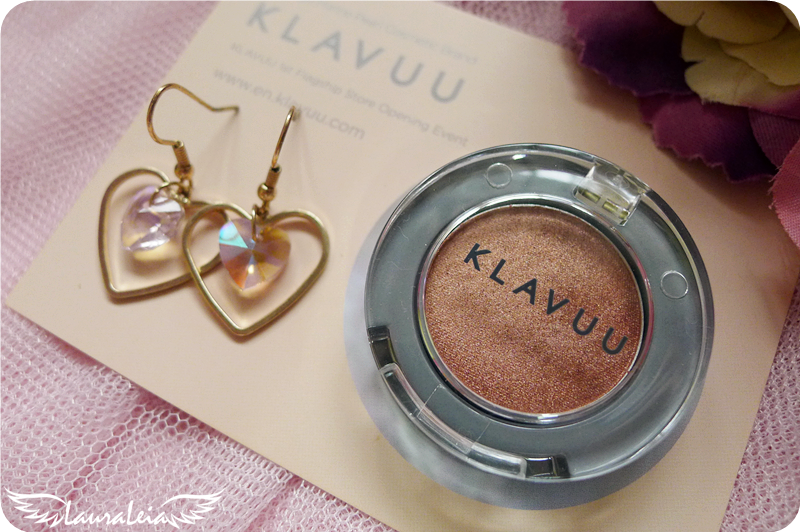 Review KLAVUU Urban Pearlsation Shimmer Eyeshadow in Rose Gold