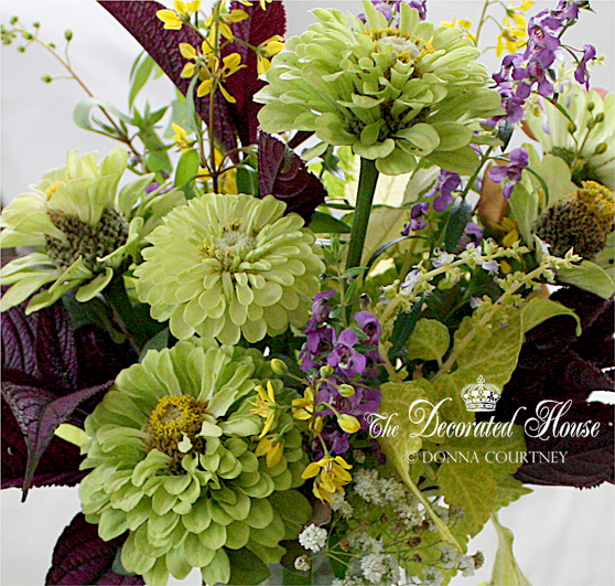 The Decorated House ~ Donna. Summer Flowers - Green and Purple