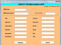 Berkas Sekolah : Aplikasi SPP dengan Format Microsoft Excel