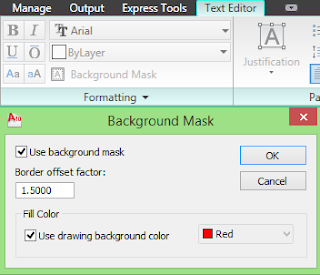 MEMBERI BACKGROUND MASK PADA TEXT DI AUTOCAD