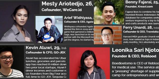 """17 Anak Muda Indonesia Yang Masuk Daftar """"Forbes"""""""