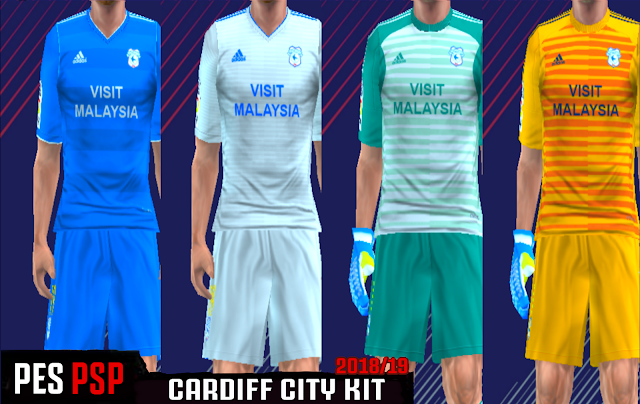 Cardiff City 18/19 Kits - PES PSP (PPSSPP)
