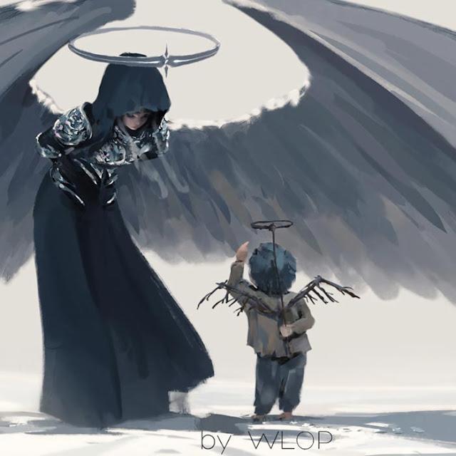 WLOP Bow Snow Angel Little Boy Wallpaper Engine