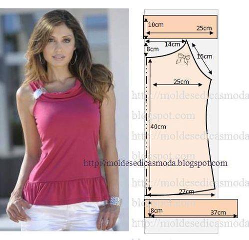 237efcaa3a4 Мастера и умники  Простые выкройки летних блузок №4
