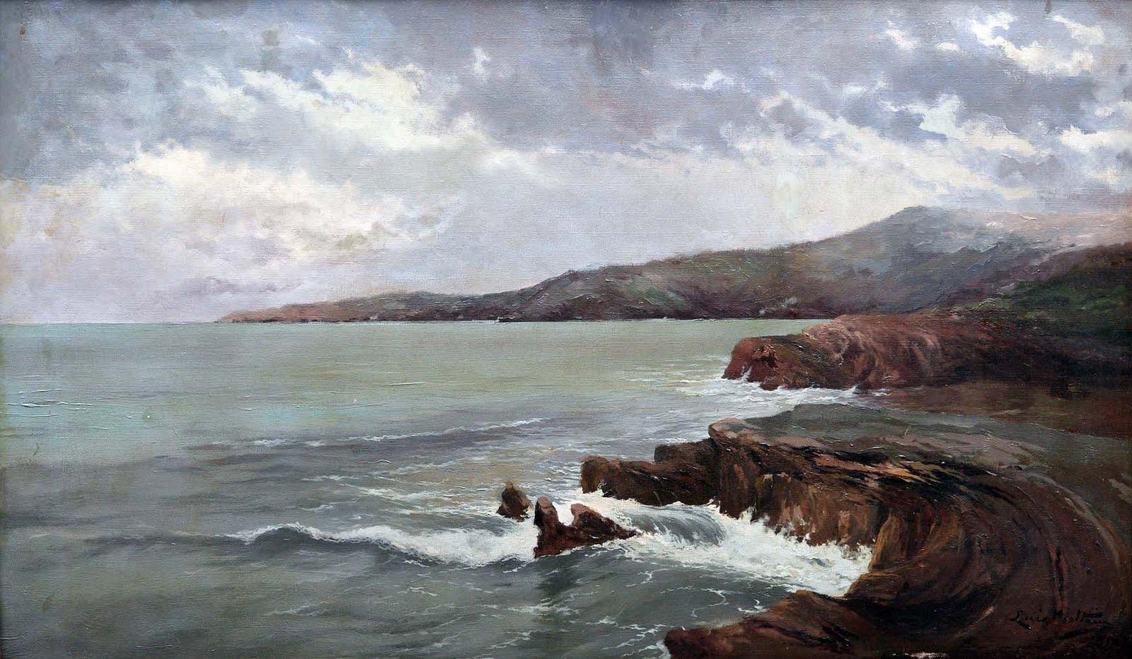 Juan mart nez abades paisaje costero asturiano - Pintores en gijon ...
