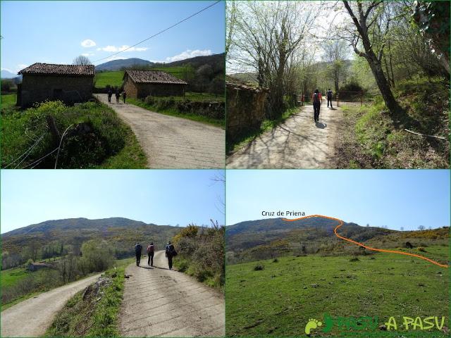 Camino a la Cruz de Priena por la Ruta de Frassinelli