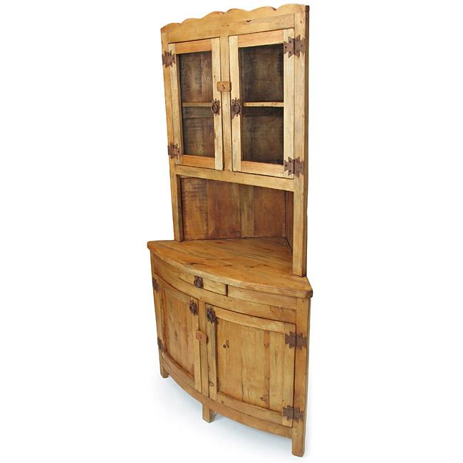 Pine China Cabinet Hutch: LOW ON DRAMA FRUGAL MAMA...: Rustic Pine Corner China