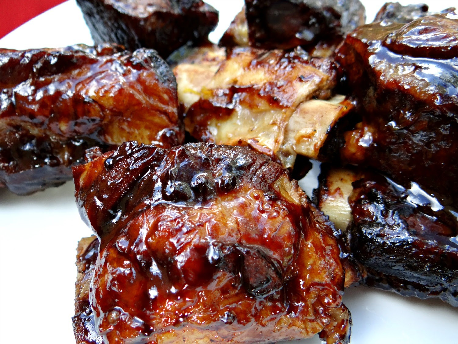 Braised and Grilled Beef Short Ribs with Sticky, Spicy Beer BBQ Sauce