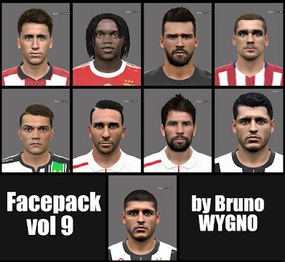PES2016 Facepack Vol 9 by BrunoWYGNO
