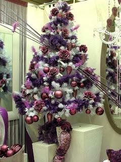 árbol morado navidad
