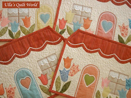 Quilted tablemats - houses