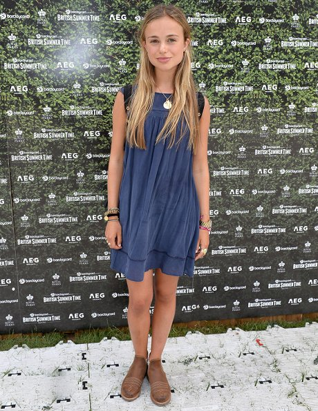 Lady Amelia Windsor attended the Barclaycard Exclusive British Summer Time Festival held at Hyde Park. Amelia wore bulue silk dress by Dolce & Gabbana