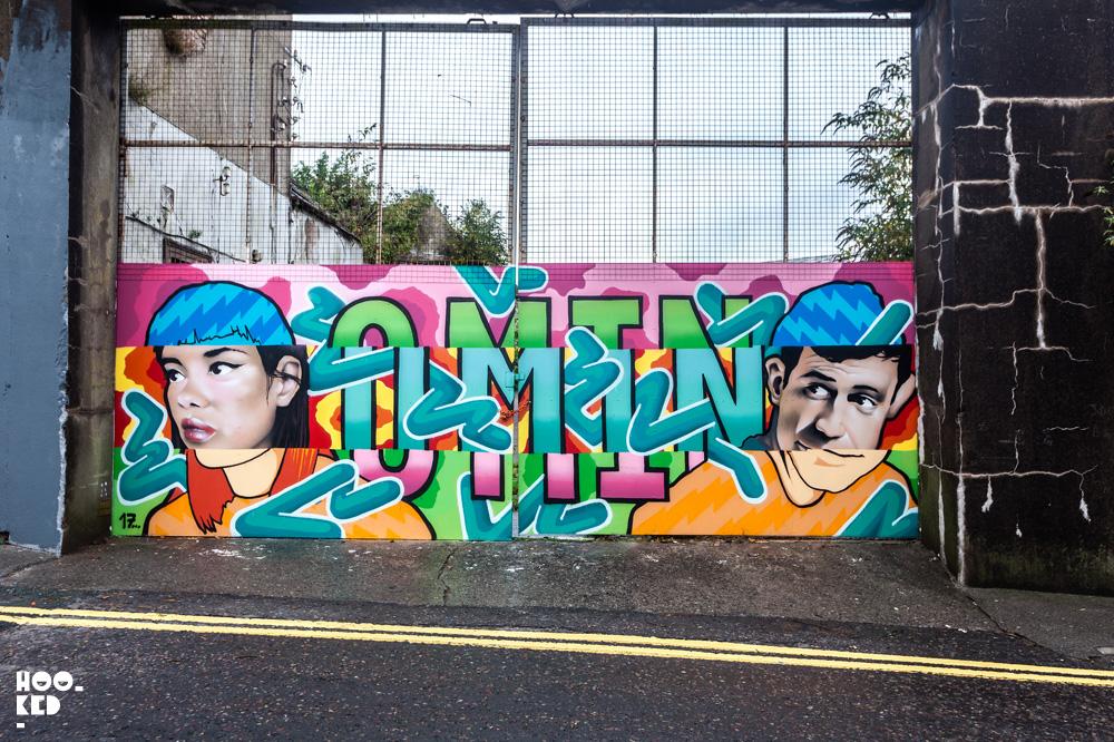 Street Art Mural in Waterford Ireland by artist Omin