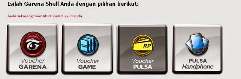 Cara Mengisi Cash/Voucher Garena ~ GamersGilak