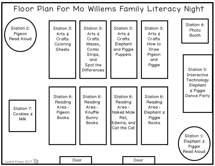 Kraus in the Schoolhouse: Mo Willems Family Literacy Night