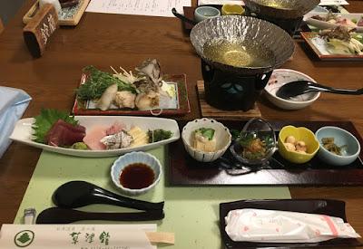 草津館の夕食