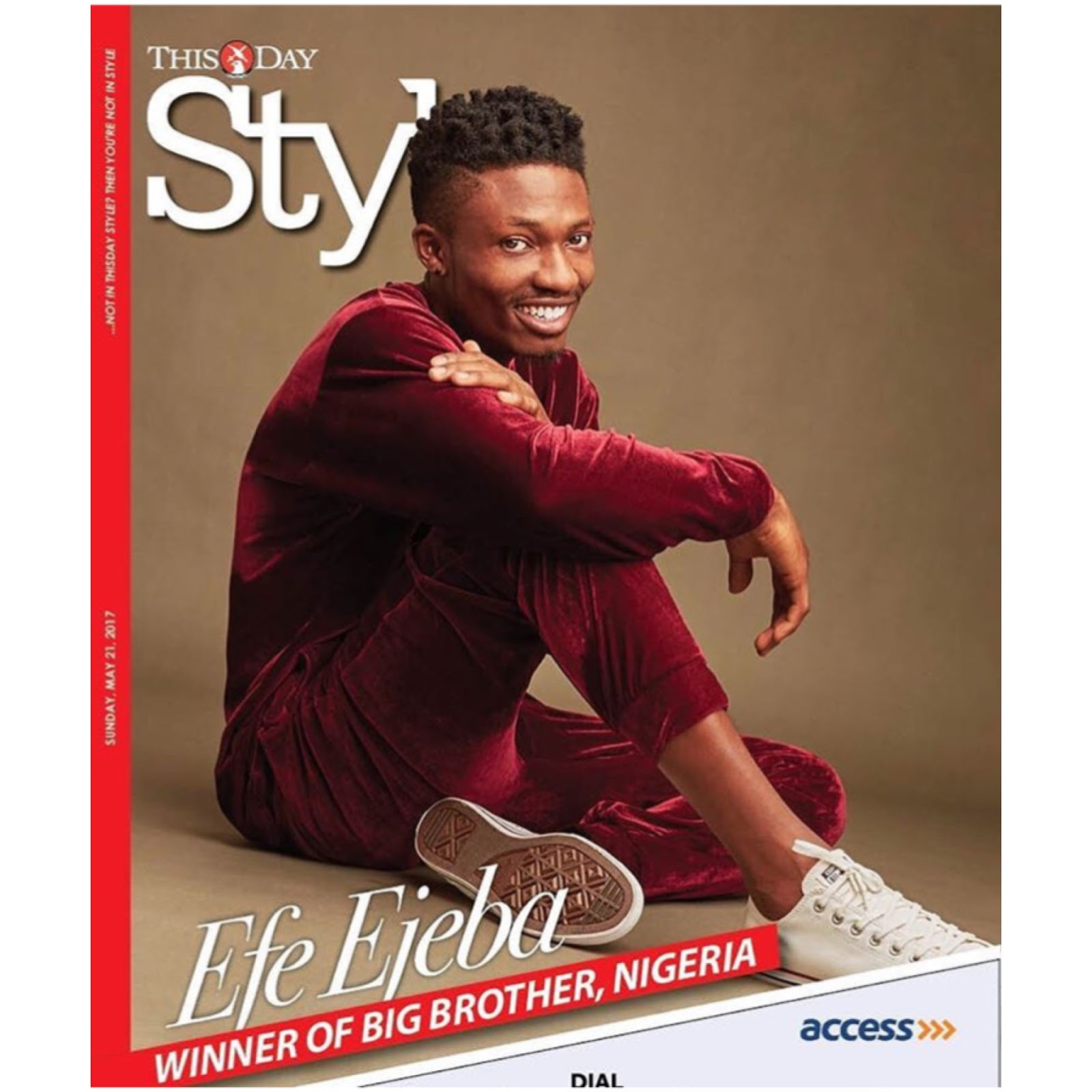 #BBNaija's Efe Covers ThisDay Style Magazine's Latest Issue