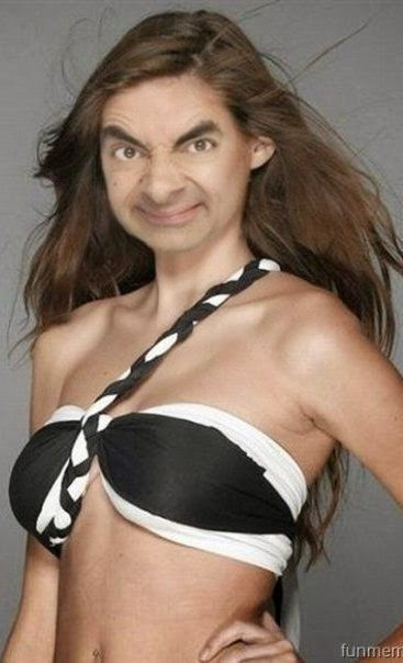 Funny Kim Kardashian Indian Big Brother Mr Bean joke picture