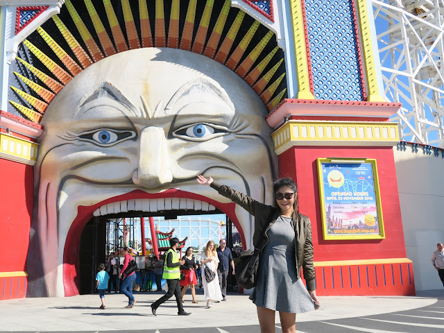 Luna Park Entrance, St Kilda's beach, Melbourne