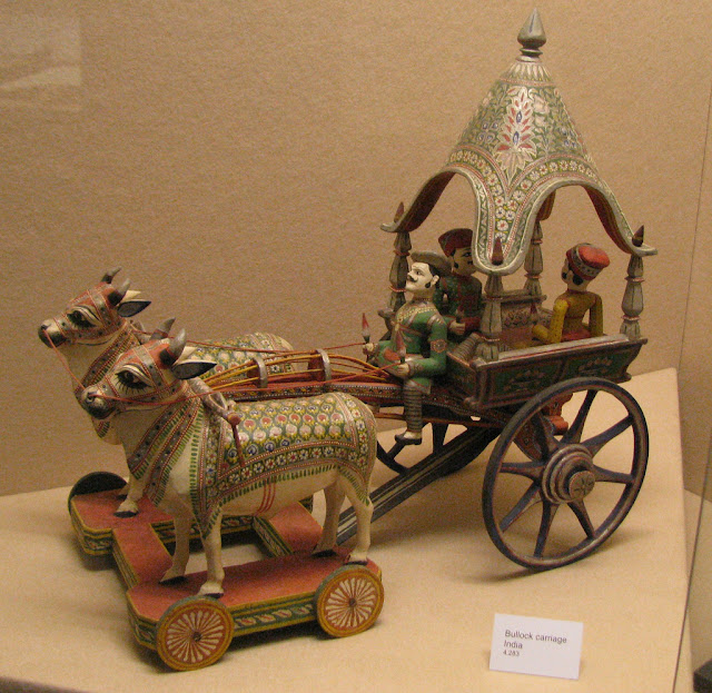 Indian porcelain carriage toy, 19th century