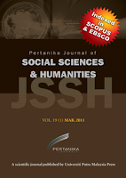 Pertanika Journal of Social Sciences & Humanities (JSSH)
