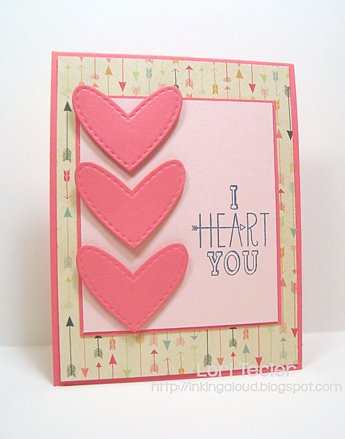 I Heart You card-designed by Lori Tecler/Inking Aloud-stamps from Avery Elle