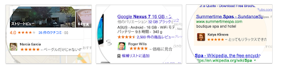 google+の写真が広告に載っている例