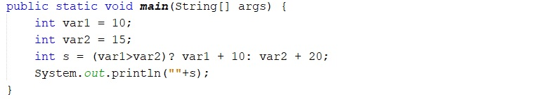 How to use ternary operator in Java