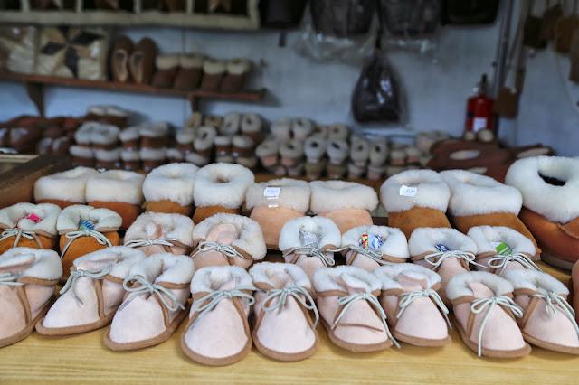 sheepskin slippers , alentejo, pic: Kerstin Rodgers/msmarmitelover