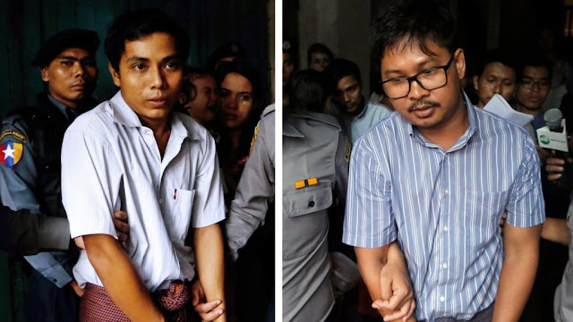 Myanmar Bebaskan Wartawan Reuters