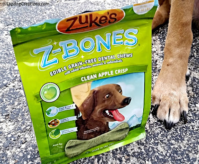 The Lapdogs Love Zuke's Z-Bones! #ChewyInfluencer #NationalPetOralHealthCareMonth #DentalTreats ©LapdogCreations